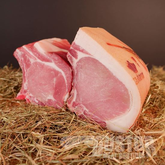 glorius varken, varkenskotelet, cote de porc en ligne, porc glorius, porc nourri aux herbes